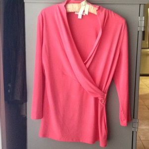 Charter Club coral long sleeved top